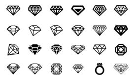 Concepto del ejemplo del vector de logotipo del diamante Icono en el fondo blanco libre illustration