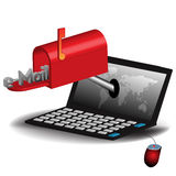 Concepto del email Imagenes de archivo