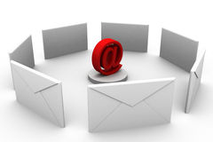 Concepto del email Imagen de archivo