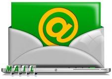 Concepto del email de la computadora portátil Foto de archivo libre de regalías