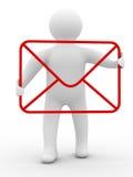 Concepto del email en el fondo blanco Fotografía de archivo