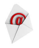 Concepto del email en el fondo blanco. 3D aislado Imagenes de archivo