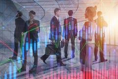 Concepto del encuentro, de las finanzas y del trabajo en equipo imagen de archivo