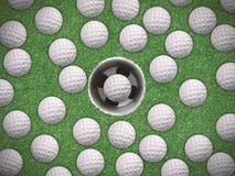 Concepto del entrenamiento del golf ilustración del vector