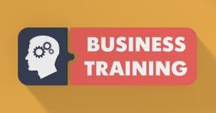 Concepto del entrenamiento del negocio en diseño plano. stock de ilustración