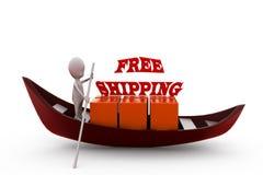 concepto del envío gratis del hombre 3d Imágenes de archivo libres de regalías