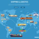 Concepto del envío y de la logística Fotos de archivo libres de regalías