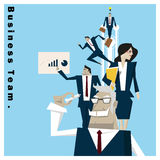 Concepto del equipo 1 del negocio de la serie de la idea del negocio Imagenes de archivo