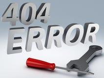 Concepto del error 404 Imagenes de archivo