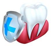 Concepto del escudo de la goma del diente Fotos de archivo