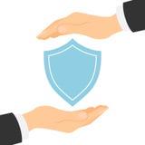 Concepto del escudo de la protección Foto de archivo