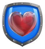Concepto del escudo del corazón Foto de archivo