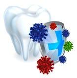 Concepto del escudo del diente Fotos de archivo