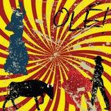 Concepto del español de Grunge Imágenes de archivo libres de regalías