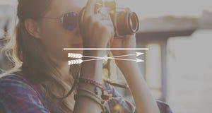 Concepto del espacio de la copia del propósito de las aspiraciones de la blanco de la meta de la flecha fotos de archivo libres de regalías