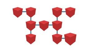 Concepto del esquema de Cryptocurrency Esquema de Blockchain, animación stock de ilustración