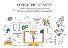 Concepto del esquema de los servicios de asesoramiento, técnico Foto de archivo libre de regalías
