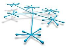 Concepto del establecimiento de una red Imágenes de archivo libres de regalías
