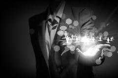 Concepto del establecimiento de una red Fotografía de archivo libre de regalías