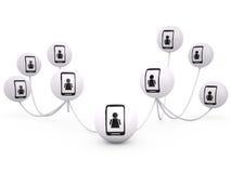 Concepto del establecimiento de una red, 3D Fotografía de archivo libre de regalías