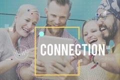 Concepto del establecimiento de una red de la tecnología de Digitaces de la conexión de la comunicación fotografía de archivo