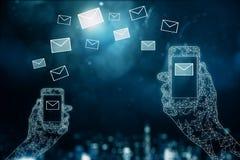 Concepto del establecimiento de una red del correo electrónico libre illustration
