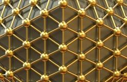 Concepto del establecimiento de una red del Icosahedron Foto de archivo