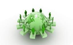 Concepto del establecimiento de una red del negocio global Imagenes de archivo