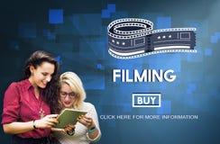 Concepto del estudio de la producción de la película del cine de la película medios fotos de archivo libres de regalías