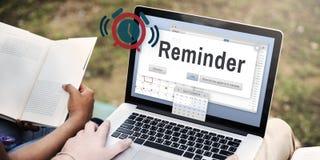 Concepto del evento del calendario del planificador del recordatorio imagenes de archivo