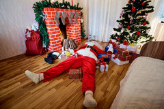 Concepto del extremo la Navidad, Año Nuevo Papá Noel _2 Fotografía de archivo