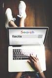 Concepto del factor de la certeza del punto de la información de los hechos imagenes de archivo
