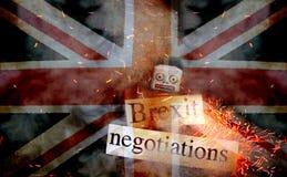 Concepto del fall de Brexit Fotografía de archivo libre de regalías
