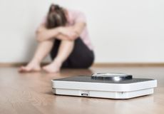 Concepto del fall de la pérdida de peso Foto de archivo libre de regalías