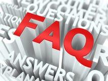 Concepto del FAQ. Foto de archivo libre de regalías