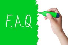 Concepto del FAQ  Imágenes de archivo libres de regalías