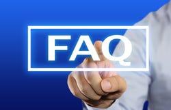 Concepto del FAQ Fotos de archivo
