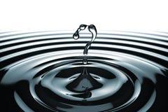 Concepto del FAQ. Qué símbolo formó gotas del agua Fotos de archivo
