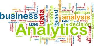 Concepto del fondo de Analytics Imagenes de archivo