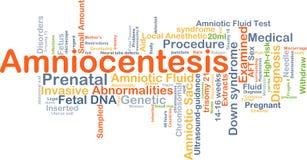 Concepto del fondo de la amniocentesis Imágenes de archivo libres de regalías
