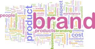 Concepto del fondo de la comercialización de marca de fábrica Imagen de archivo