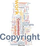 Concepto del fondo de la convención de los derechos reservados Fotos de archivo