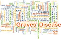 Concepto del fondo de la enfermedad de Graves' Imágenes de archivo libres de regalías
