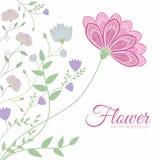 Concepto del fondo de la flor Ilustración Foto de archivo