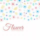 Concepto del fondo de la flor Ilustración Imagen de archivo