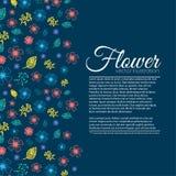 Concepto del fondo de la flor Ilustración Imagenes de archivo