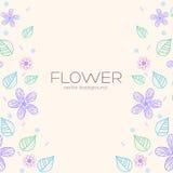 Concepto del fondo de la flor Ilustración Fotos de archivo libres de regalías