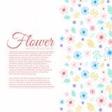 Concepto del fondo de la flor Ilustración Foto de archivo libre de regalías
