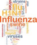 Concepto del fondo de la gripe H1N1 Foto de archivo