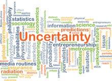 Concepto del fondo de la incertidumbre Fotos de archivo